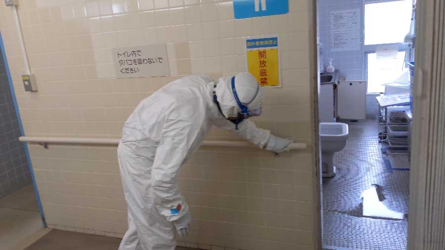 新型コロナウイルス除菌作業